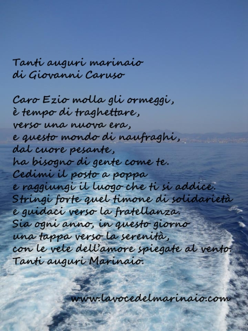Bien connu Tanti auguri marinaio (Giovanni Caruso) – La voce del marinaio VZ03