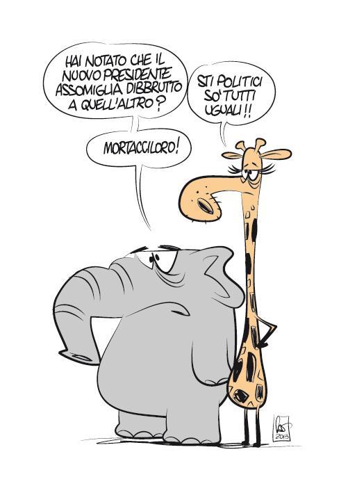 Il nuovo presidente - vignetta di marco calcinaro in arte sci oh- copia