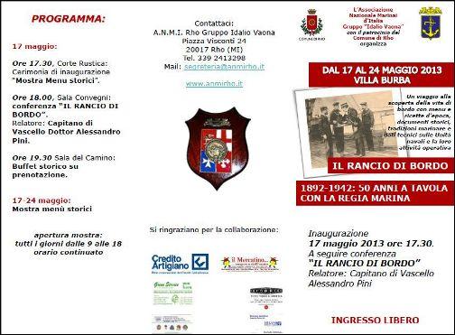 17.5.2013 il rancio di bordo - www.lavocedelmarinaio.com