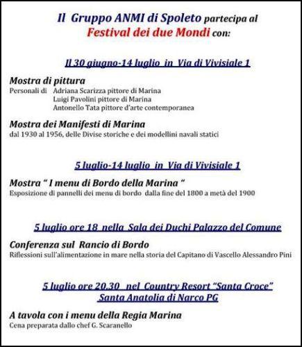Ferstival dei due mondi Spoleto - 30 giugno - 18 luglio - www.lavocedelmarinaio.com