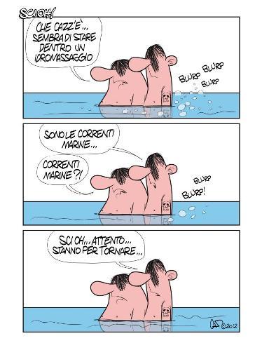 Le correnti marine vignetta di Marco Calcinaro in arte Sci Oh - Copia