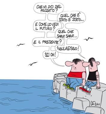 Marinai senza lavoro (vignetta di Marco Calcinaro in arte Sci Oh)  - Copia