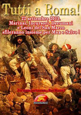 22.9.12013 Roma solidarietà per i Marò Girone e Latorre - www.lavocedelmarinaio.com