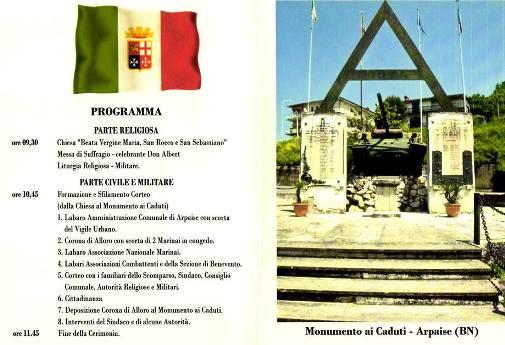 14.9.2013 Arpaise (BN) celebrazione 70° anniversario - www.lavocedelmarinaio.com- Copia