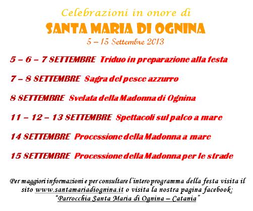Madonna della Bambina a Ognina 2013 - www.lavocedelmarinaio.com
