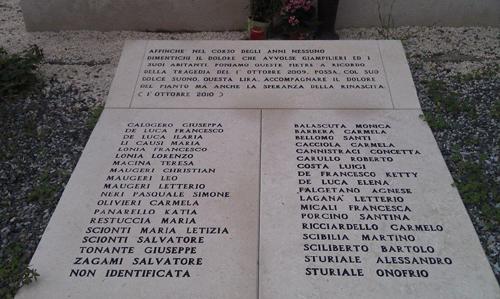 Monumento a ricordo dei 37 morti dell'aluvione di Giampilieri  - www.lavocedelmarinaio.com Copia
