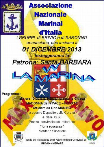 1.12.2013, Santa Barbara a Brivio - www.lavocedelmarinaio.com