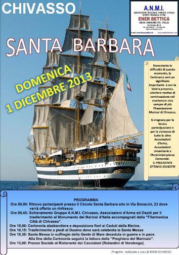 1.12.2013, Santa Barbara a Chivasso - www.lavocedelmarinaio.com