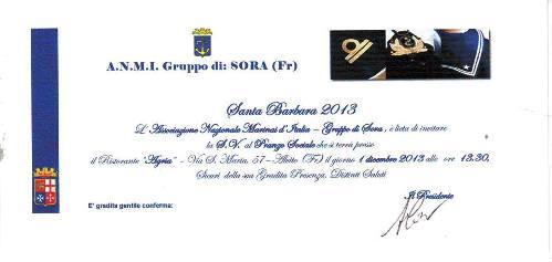 1.12.2013, Santa Barbara a Sora - www.lavocedelmarinaio.com