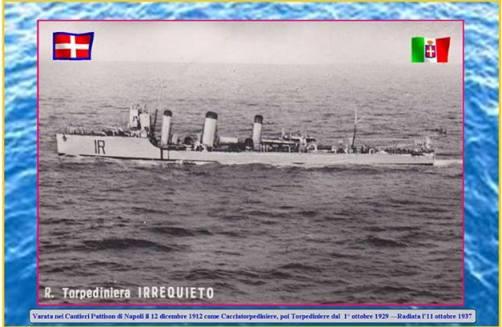 12.12.1912, Regia torpediniera Irrequieto - www.lavocedelmarinaio.com