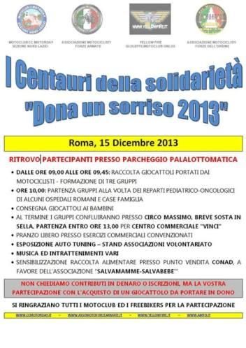 15.12.2013 a Roma con i centauri della solidarietà dona un sorriso - www.lavocedelmarinaio.com
