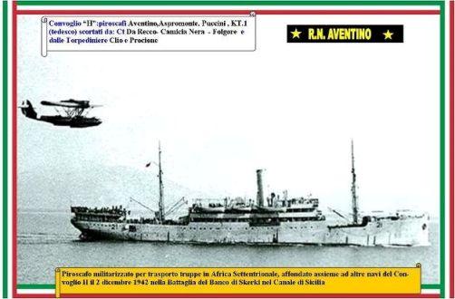 2.12.1942 regia nave Aventino www.lavocedelmarinaio.com