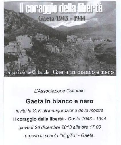 26-30.12.a Gaeta, Il coraggio della libertà - www.lavocedelmarinaio.comn
