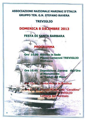 8.12.2013, Santa Barbara a Treviglio - www.lavocedelmarinaio.com