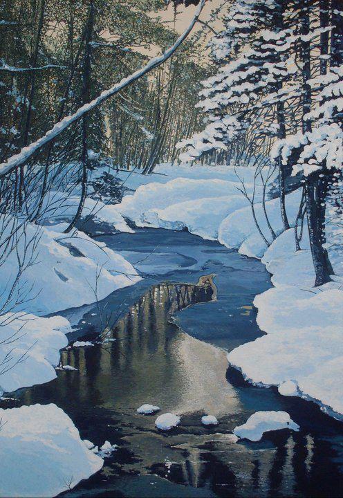 Inverno di Martina Benedetti (acrilico su tela 50x70 - 2011)