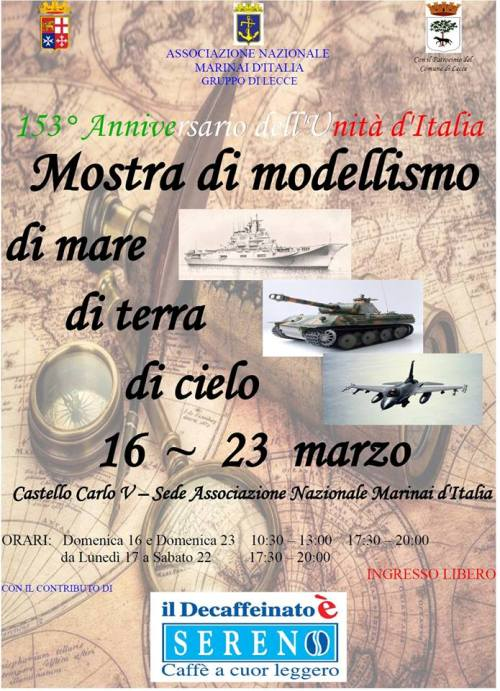 16-23.3.2014, a Lecce Mostra di modellismo - www.lavocedelmarinaio.com