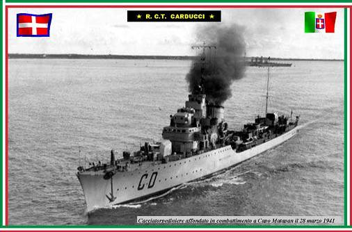 28.3.1941 Regia nave Carducci - www.lavocedelmarinaio.com
