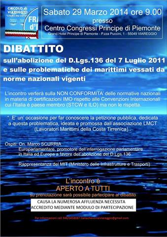 29.3.2014 a Viareggio - Dibattito - www.la vocedelmarinaio.com