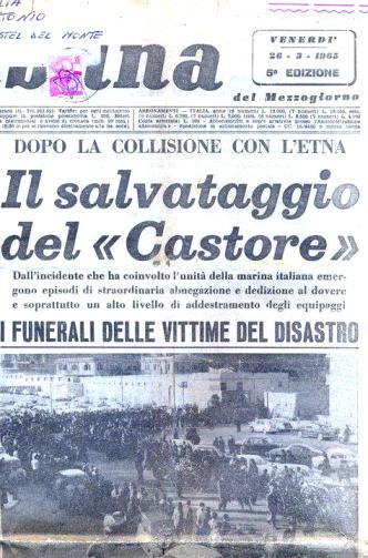 I giornali dell'epoca che testimoniano la collisione tra nave Castore e nave Etna - www.lavocedelmarinaio.com - copia