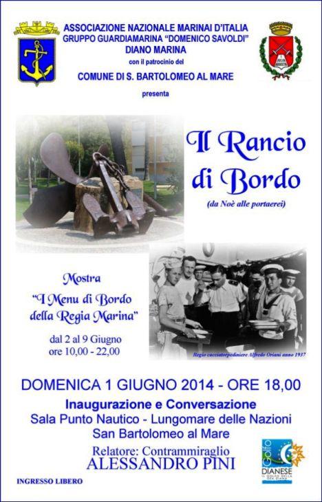 1.6.2014 a San Bartolomeo a Mare Il rancio di bordo - www.lavocedelmarinaio.com