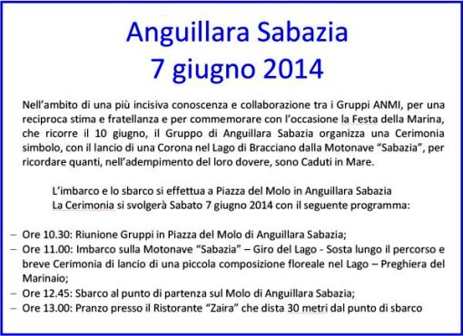 7.6.2014ad Anguillara Sabazia - www.lavocedelmarinaio.com