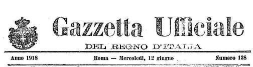 Gazzetta Ufficiale del 12.6.1918 (1) - www.lavocedelmarinaio.com