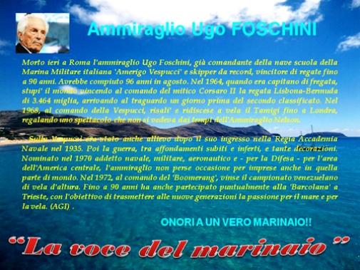 Ammiraglio Ugo Foschini - www.lavocedel marinaio.com