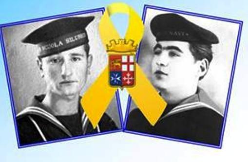 Marinai siluristi Rinuccio Santuopoli e Bruno Barbieri (f.p.g.c. Gennaro Ciccaglione a www.lavocedelmarinaio.com)