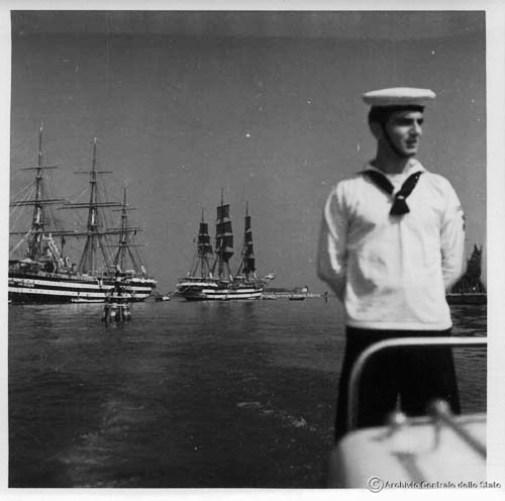 Navi Colombo e Vespucci a Venezia (1940) foto Archicio Centrale dello Stato
