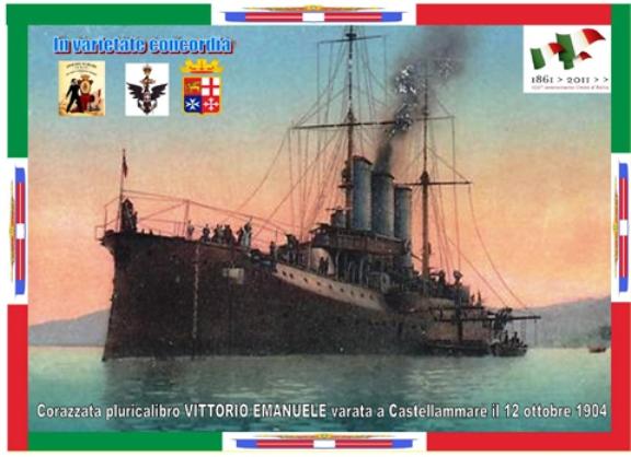 12.10.1904 Corazzata Vittorio Emanuele (www.lavocedelmarinaio.com)