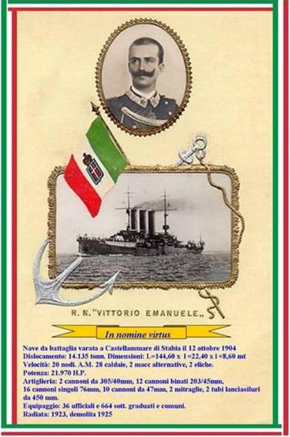 12.10.1904 Regia Nave Vittorio Emanuele - www.lavocedelmarinaio.com