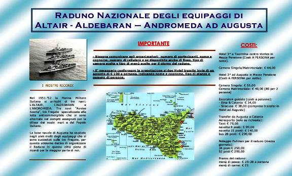 Raduno Equipaggi navi Altair, Aldebaran, Andromeda ad Augusta - www.lavocedelmarinaio.com