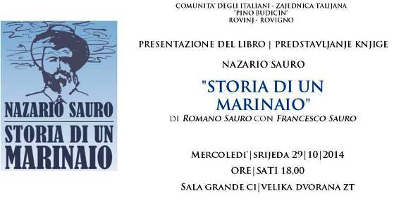 Rovigno 29.10.2014 Storia di un marinaio - www.alvocedelmarinaio.com
