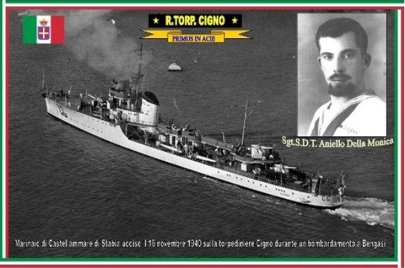 16.11.1940 sergente Aniello Della Monica - Regia nave Cigno - www.lavocedelmarinaio.com