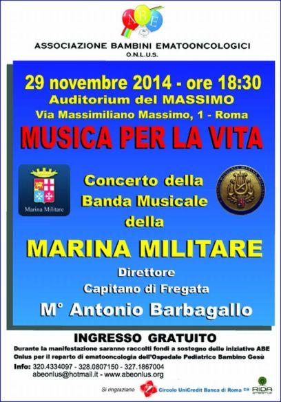 29.11.2014 a Roma Banda della Marina - www.lavocedelmarinaio.com