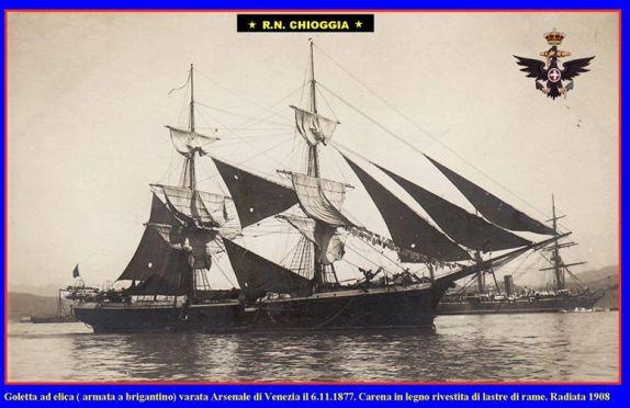 6.11.1877 varo regia goletta Chioggia - www.la vocedelmarinaio.com