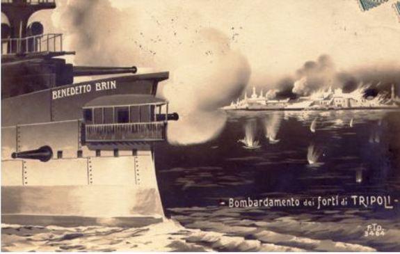 Regia nave Brin bombardamento di Tripoli - ww.lavocedelmarinai.com