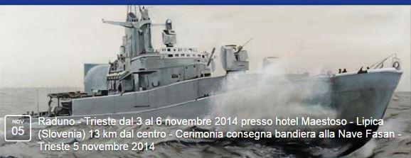 Trieste 5.11.2014 consegna nave Virginio Fasan