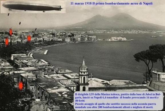 11.3.1918 il primo bombardamento aereo su Napoli www.lavocedelmarinaio.com