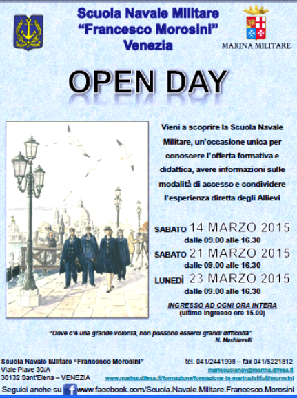 14 - 21 e 23.3.2015 Morosini Open day - www.lavocedelmarinaio.com