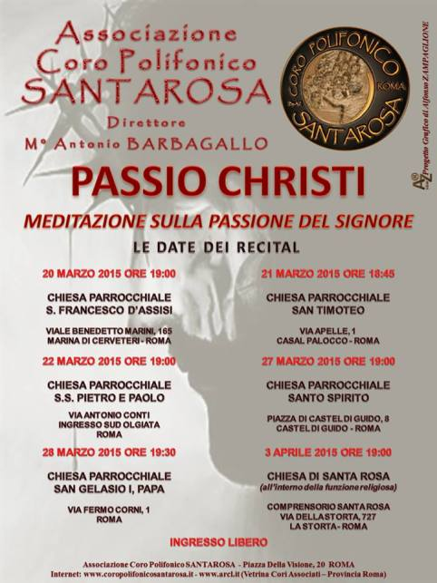 27.3 - 3.4.2015 coro polifonico marzo