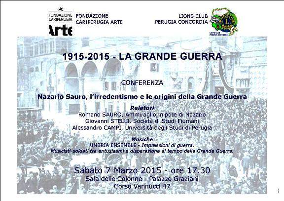 7.3.2015 a Perugia la grande guerra - www.lavocedelmarinaio.com