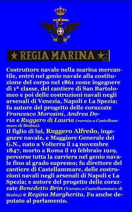 GIUSEPPE MICHELI 1.4.1823 - 1.4.1883) - www.lavocedelmarinaio.com
