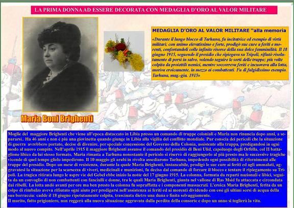 Maria Doni Brighenti la prma donna ad essere decorata medaglia d'oro al valor militare - www.lavocedelmarinaio.com