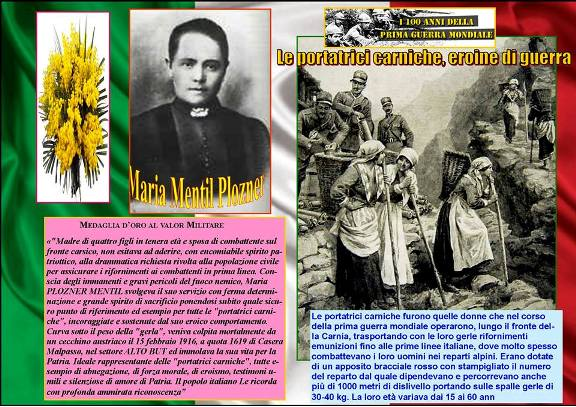 Maria Mentil Plozner e le portatrici carniche - www.lavocedelmarinaio.com