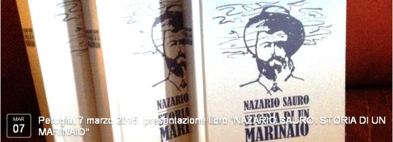 Perugia, 7 marzo 2015, presentazione libro NAZARIO SAURO. STORIA DI UN MARINAIO - www.lavocedelmarinaio.com
