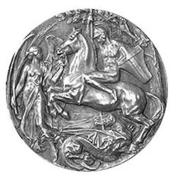 Retro della medaglia conquistata da Enrico Porro (foto internet) - www.lavocedelmarinaio.com