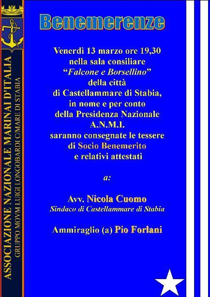 benerenze a Castellammare di Stabia - www.lavocedelmarinaio.com 13.3.2015