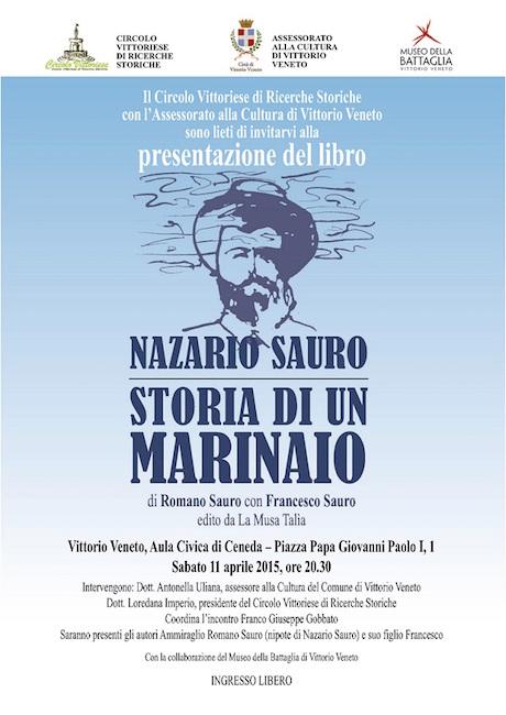 11.4.2015 a Vittorio Veneto presentazione libro Nazario Sauro storia di un marinaio - www.lavocedelmarinaio.com