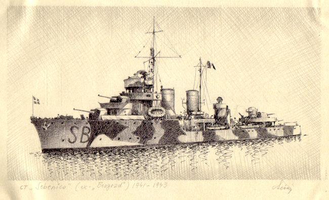 1941 - Cacciatorpediniere 'Sebenico' - ex 'Beograd' - copia - www.lavocedelmarinai.com